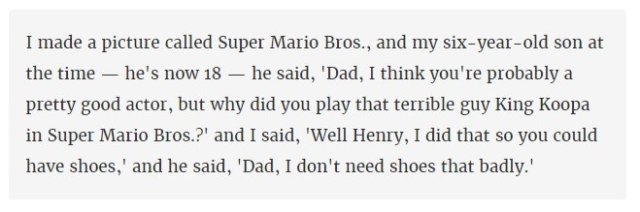 Dennis Hopper talking about the Super Mario Bros movie
