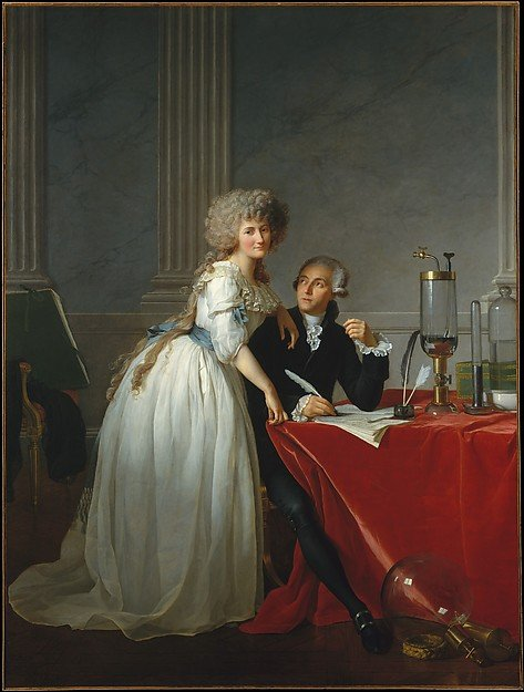 Marie-Anne Pierrette Paulze with her husband Antoine Lavoisier Source: Wikimedia Commons