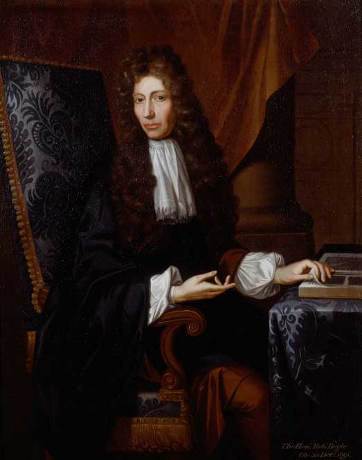 Robert Boyle Portrait by Johann Kerseboom Source: Wikimedia Commons