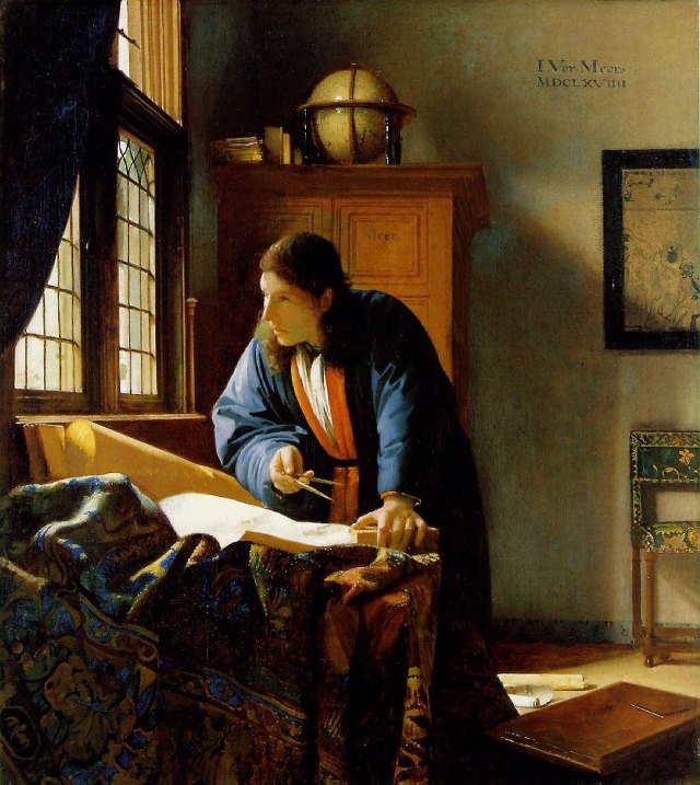 Jan Vermeer The Geographer (1669) Source: Wikimedia Commons