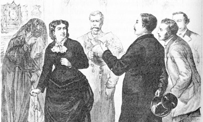 "The New York Illustrated Times reporting the arrest of ""Madame Restell,"" an accused ""abortionist,"" in 1878. (Public domain)"