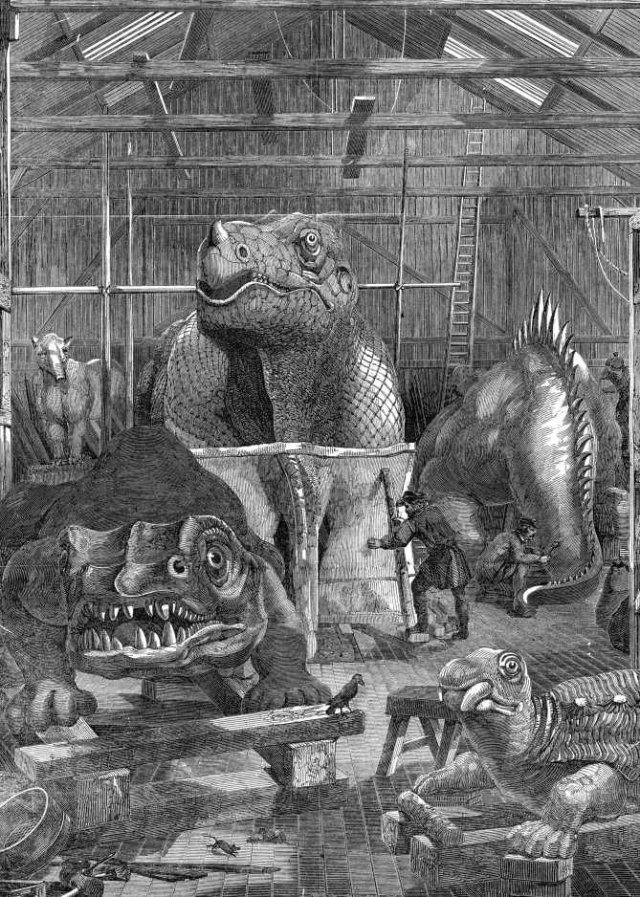 Dinosaurs produced for the Crystal Palace Exhibition by Benjamin Waterhouse Hawkins