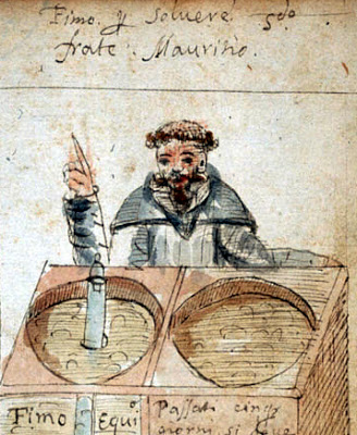 Friar Mauritio, Treasure of the world, f.19v (detail) Antonio Neri, (1598-1600).