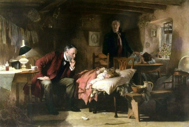 """The Doctor"" by Sir Luke Fildes ca. 1890"