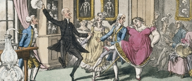 Party like it's 1799. Georgian England's upper crust partake of the party drug of the day: nitrous oxide Wellcome Library London