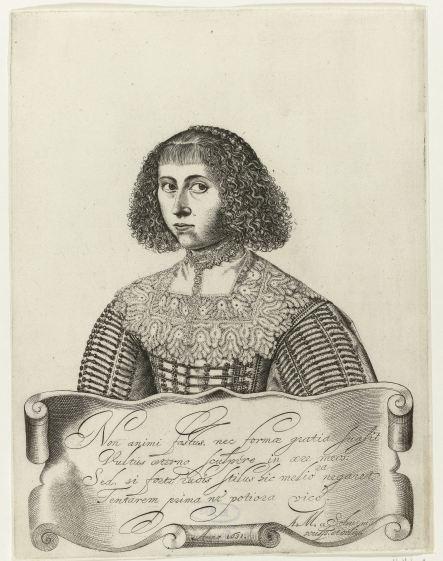 Anna Maria van Schurman, Self-Portrait (1633). Rijksmuseum. Object number RP-P-OB-59.344.